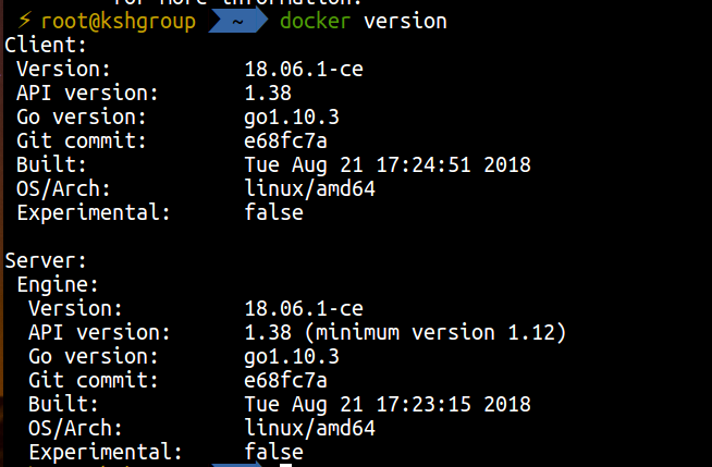 docker-version